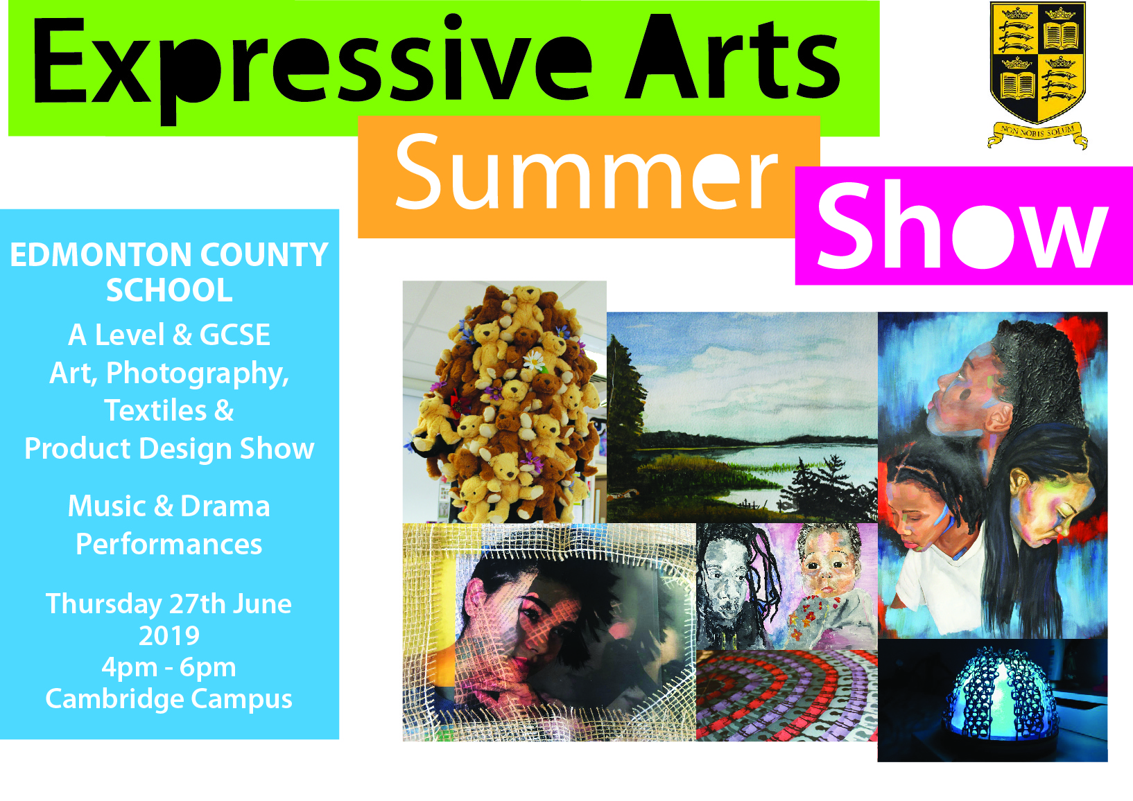 Expressive Arts Summer Show - Thursday 27th June 2019